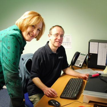 Makerfield MP Yvonne Fovargue with Design Manager, Peter Bretherton
